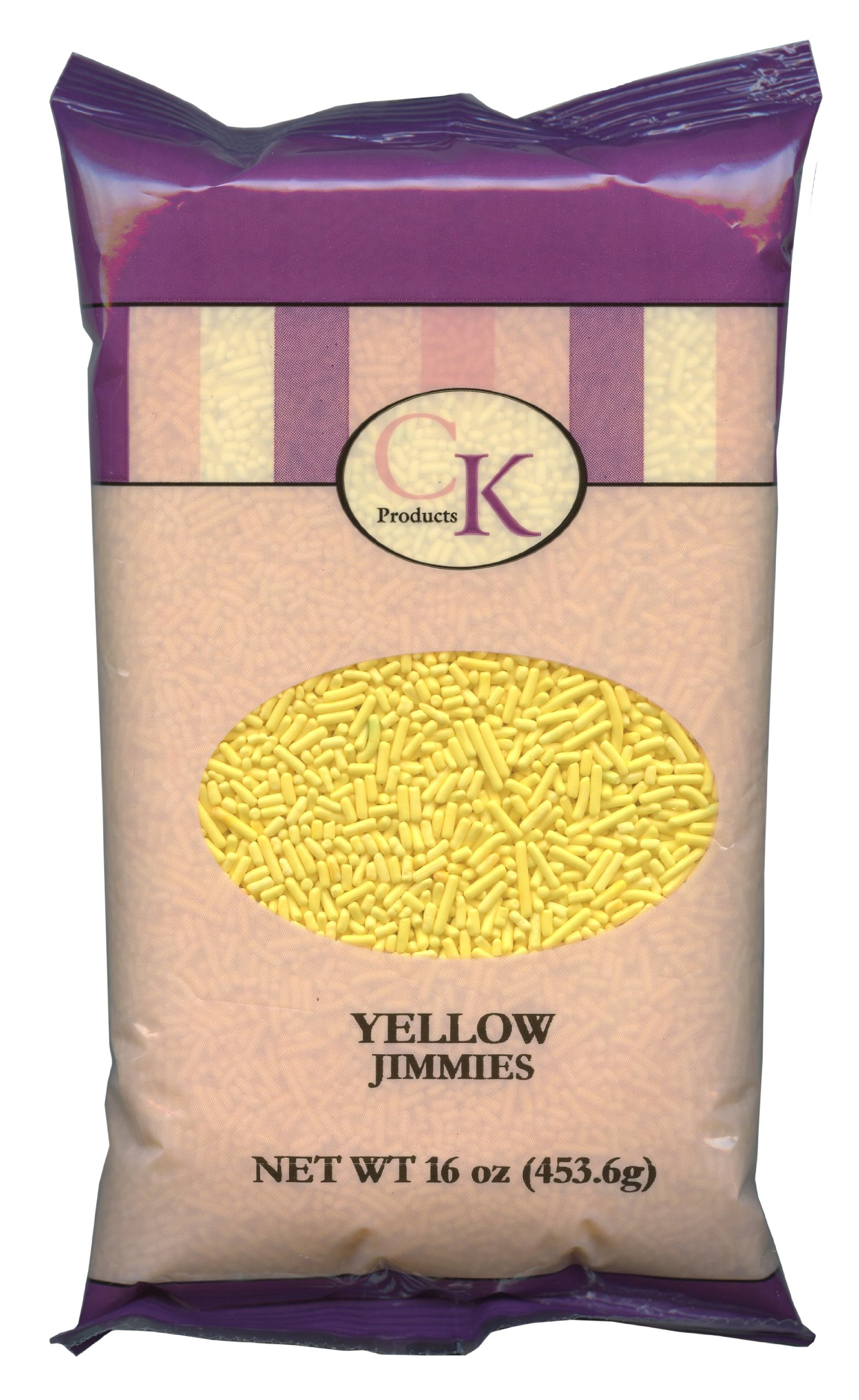 CK Products 16 Ounce Jimmies/Sprinkles Bag, Yellow