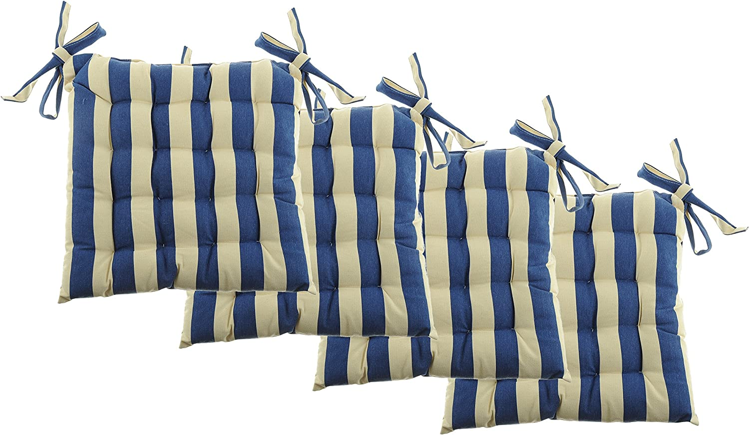 """White Dove Unity Cotton Canvas - Value 4 Pack - Fits 15"""" Chair - Cabana Stripe - Classic Design, by Unity (Stripe Sky Blue)"""