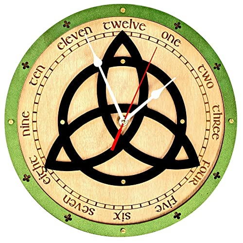 Amazon Triquetra Symbol Celtic Wooden Wall Clockforce On