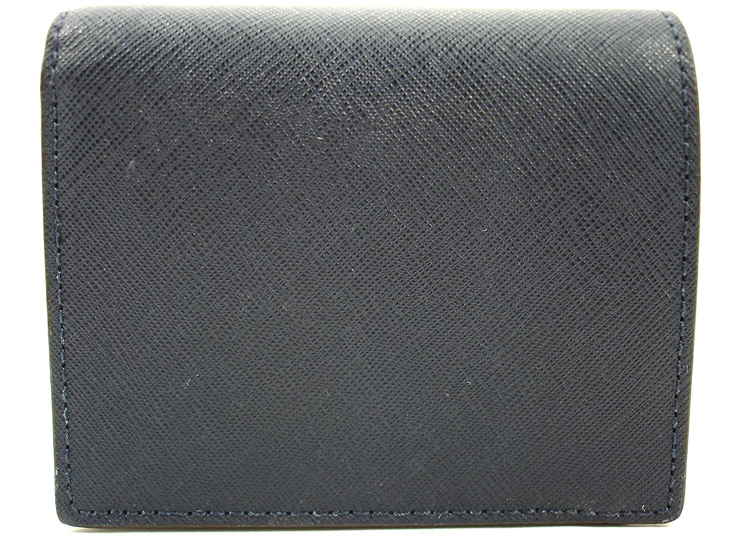 59c036471e9c MICHAEL Michael Kors Jet Set Flap Card Holder Saffiano Leather Navy/Silver:  Amazon.co.uk: Clothing