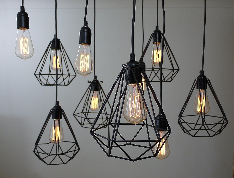 Diamant geometrischen Industrie Jahrgang Licht / Lampe Kafig ...