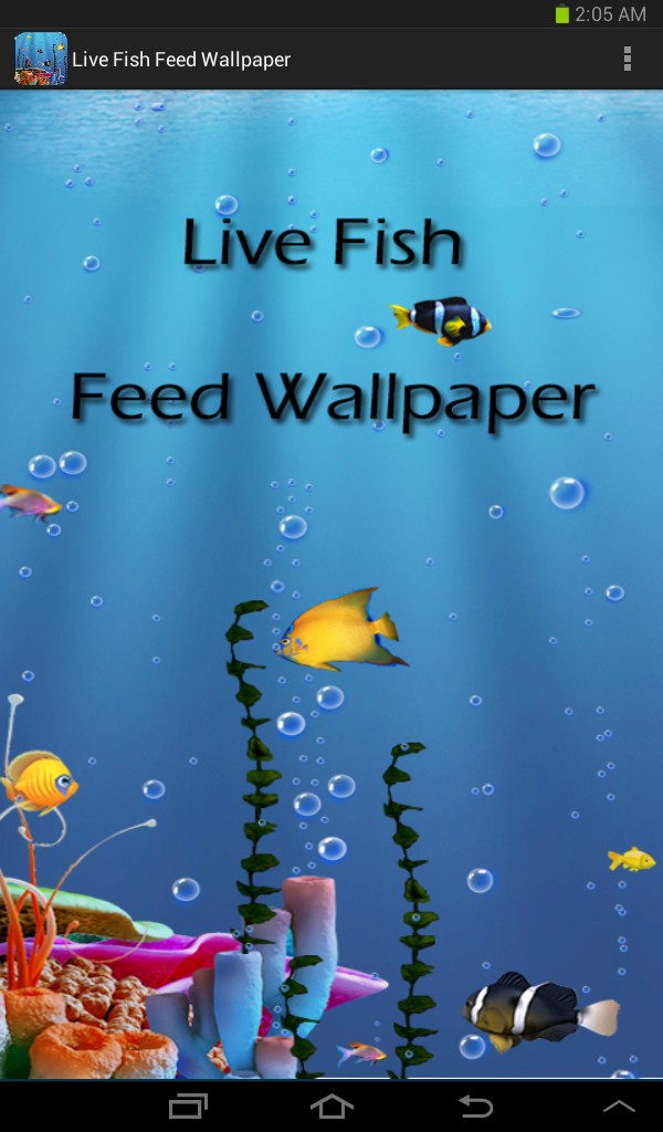 Live fish feed wallpaper appstore for android for Fish live game