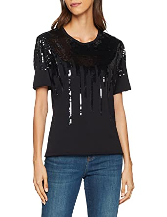 4238723f23d9 Pinko Women s Domiziano T-Shirt Jersey Di Co  Amazon.co.uk  Clothing