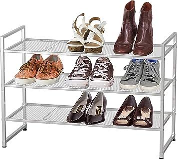 3-Tier Stackable Shoe Shelves Storage Utility Rack