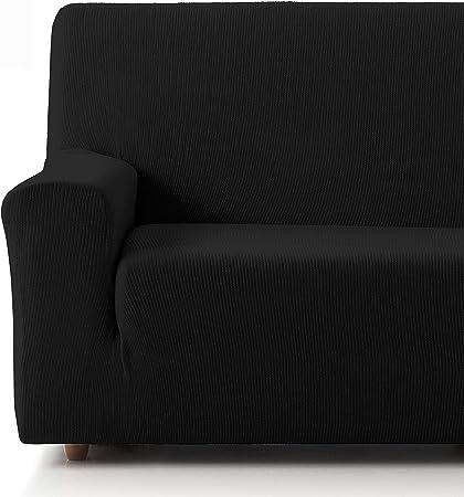 Oferta amazon: Eiffel Textile Funda Sofa Elastica Protector Adaptable Rústica Sofá, 50% Poliéster, Negro, Pack 3+2 Plazas