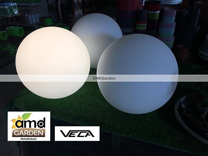 Sfera luminosa a led da esterno luce bianca cm 40 lampada 13 watt