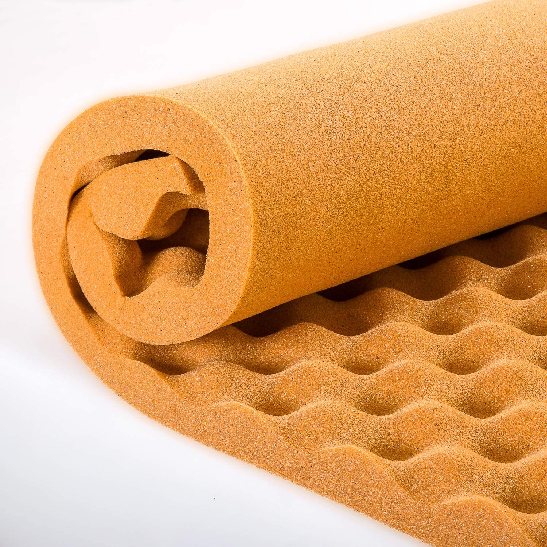 Cooling TWIN Zinus 1.5 Inch Swirl Gel Memory Foam Convoluted Mattress Topper