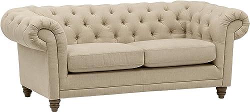 Amazon Brand Stone Beam Bradbury Chesterfield Tufted Loveseat Sofa Couch