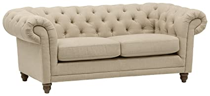 Stone & Beam Bradbury Chesterfield Tufted Loveseat Sofa Couch, 78.7