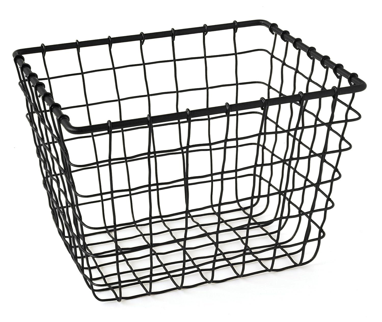 Gelco Design Fab Wire Storage Basket, Metal, Black, 18x 22x 16.5cm 710508