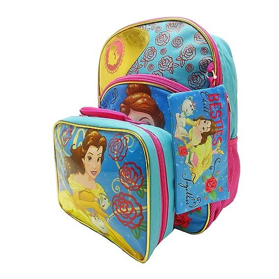 Amazon.com | 3-Piece Disney Beauty & the Beast Belle Backpack Standard | Kids Backpacks
