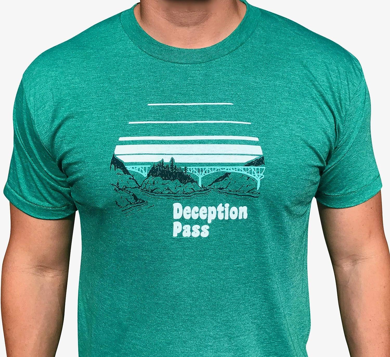 PNW unisex tee Pacific Northwest mens tri-blend shirt Deception Pass mens//unisex t-shirt