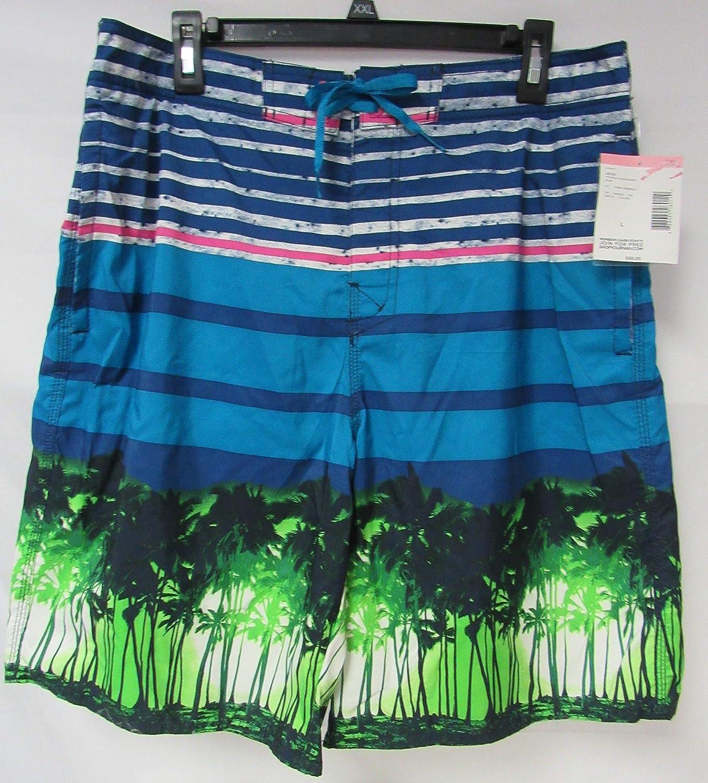 e9d03f6180 Amazon.com: Joe Boxer Men's Size X-Large Striped Palm Board Shorts Swim  Trunks C1 735 XL: Clothing