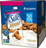 Silk Almond Milk, Unsweetened Vanilla, 32 Fluid Ounce (Pack of 6)