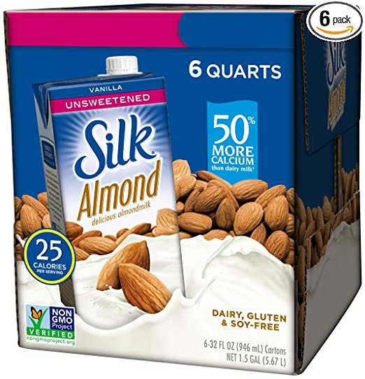 Silk Almond Milk, Unsweetened.