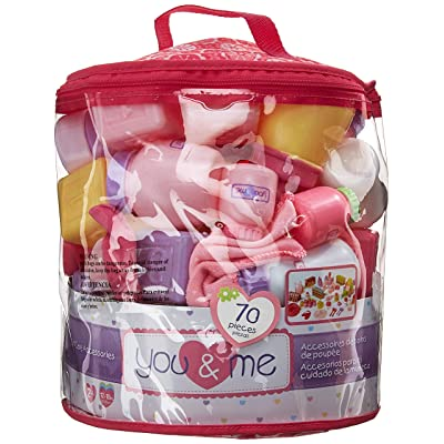 You & Me 70-Piece Doll Care Accessories Cylinder: Toys & Games