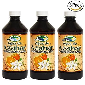Agua De Azahar 8 Oz. Orange Flower-Blossom Water 2 Pack EOS Evolution of Smooth Strawberry Sorbet Lip Balm 0.25 Oz Each