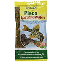 Tetra Pleco Spirulina Wafers, Complete Diet for All Herbivorous Bottom-Feeding Fish, 150 g