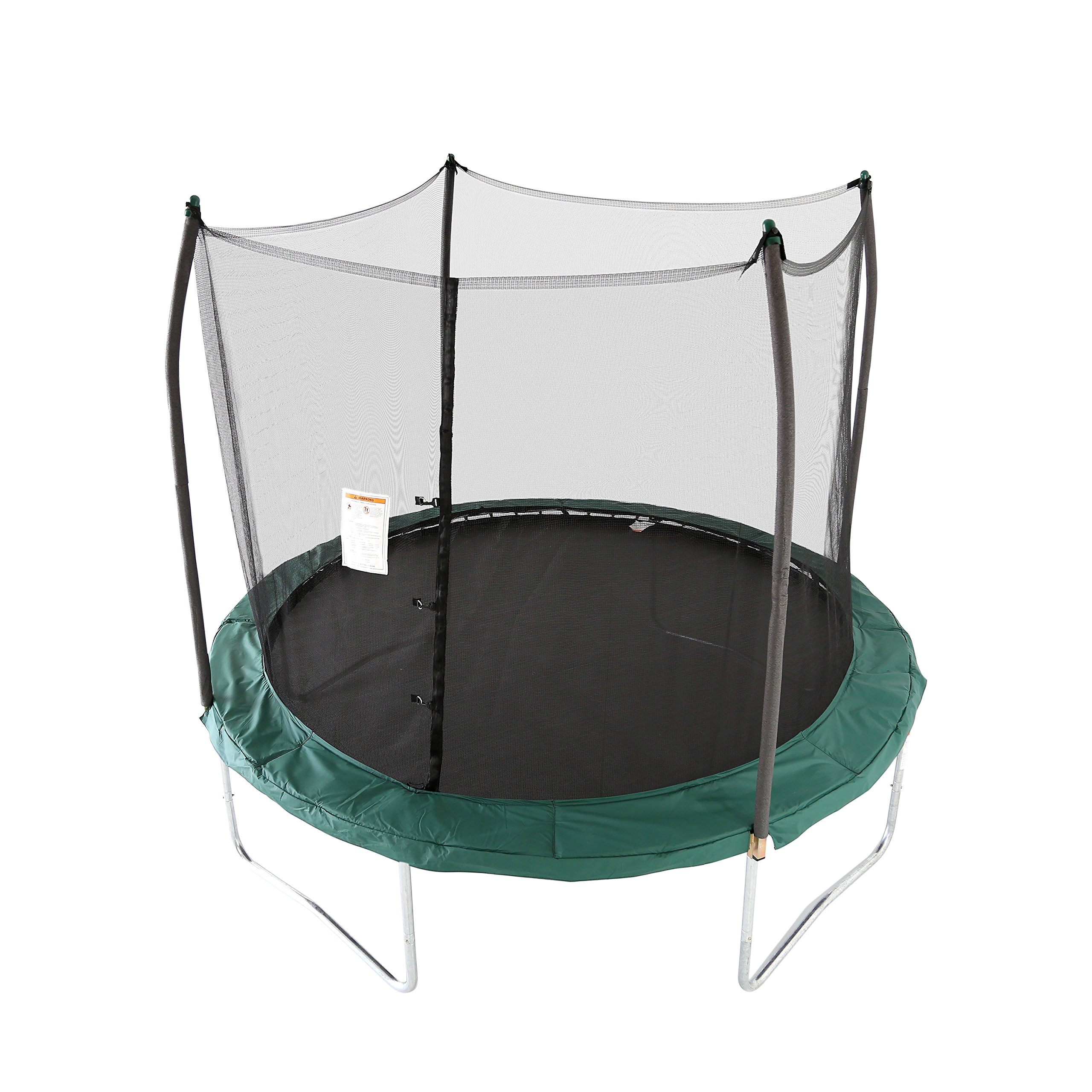 Skywalker Trampolines 10 -Foot Round Trampoline and Enclosure with spring, Green