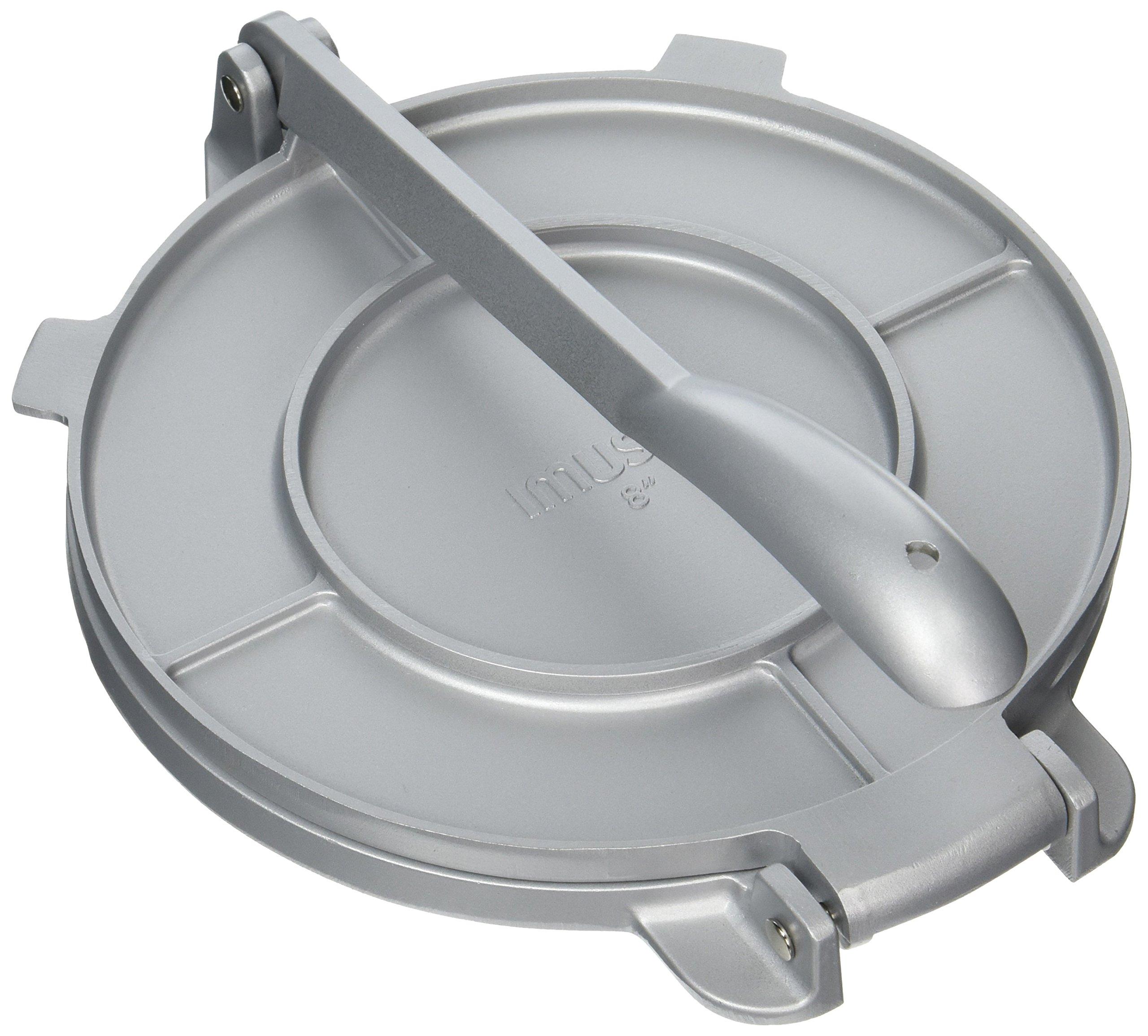 IMUSA USA MEXI-86009M Cast Aluminum Tortilla & Roti Press 8-Inch, Silver by Imusa