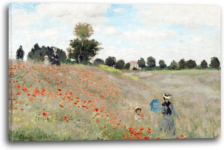 Printed Paintings Impresión sobre Lienzo (120x80cm): Claude Monet - Campo de la Amapola