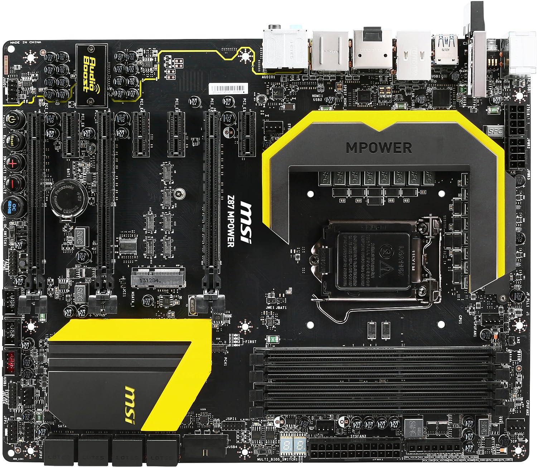 MSI Z87 MPOWER LGA 1150 Intel Z87 HDMI SATA 6Gb//s USB 3.0 ATX Extreme OC Flagship