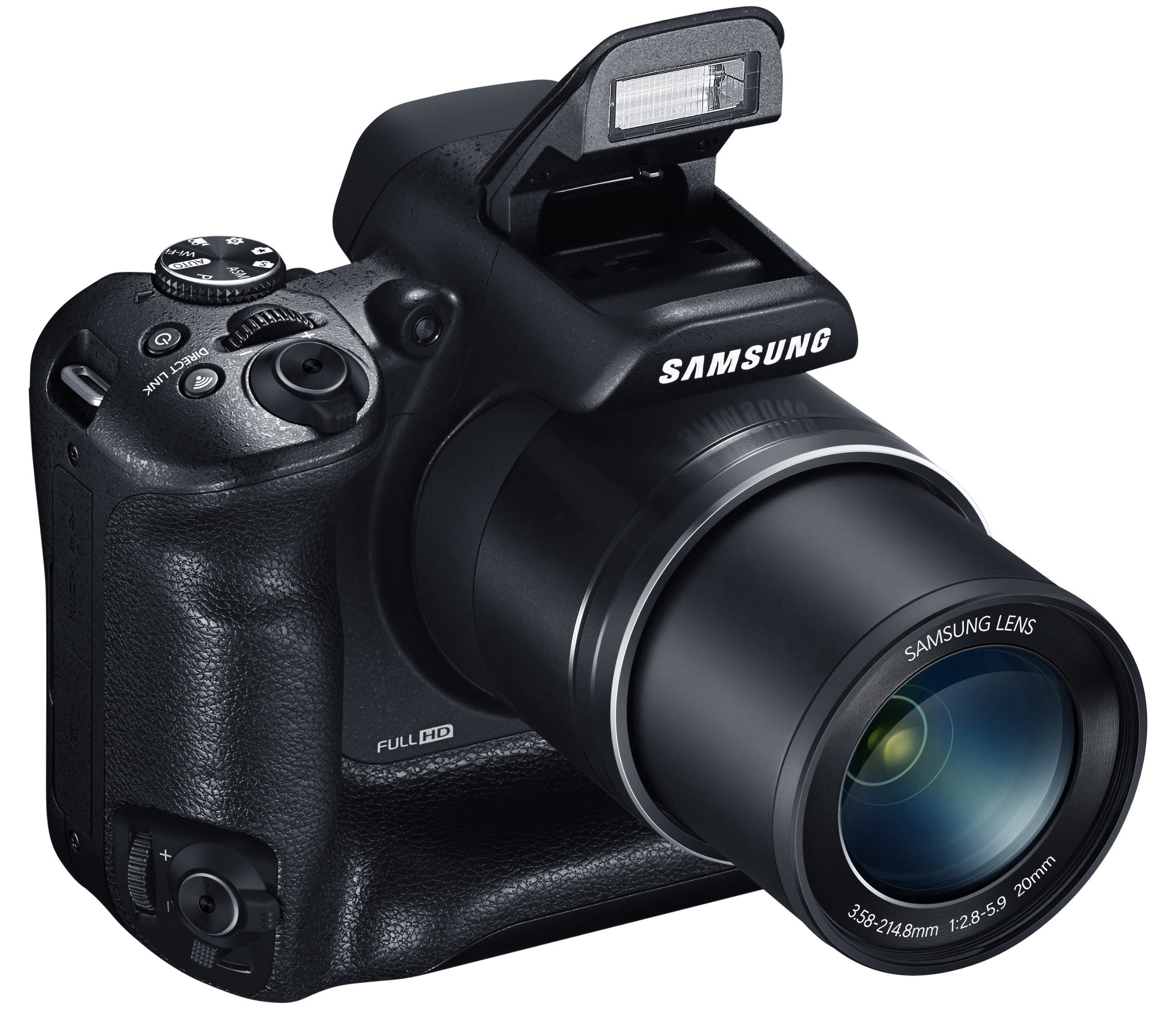 Samsung WB2200F 16.3MP CMOS Smart WiFi & NFC Digital Camera with 60x Optical  Zoom, 3.0'' LCD and 1080p HD Video (Black) by Samsung (Image #4)