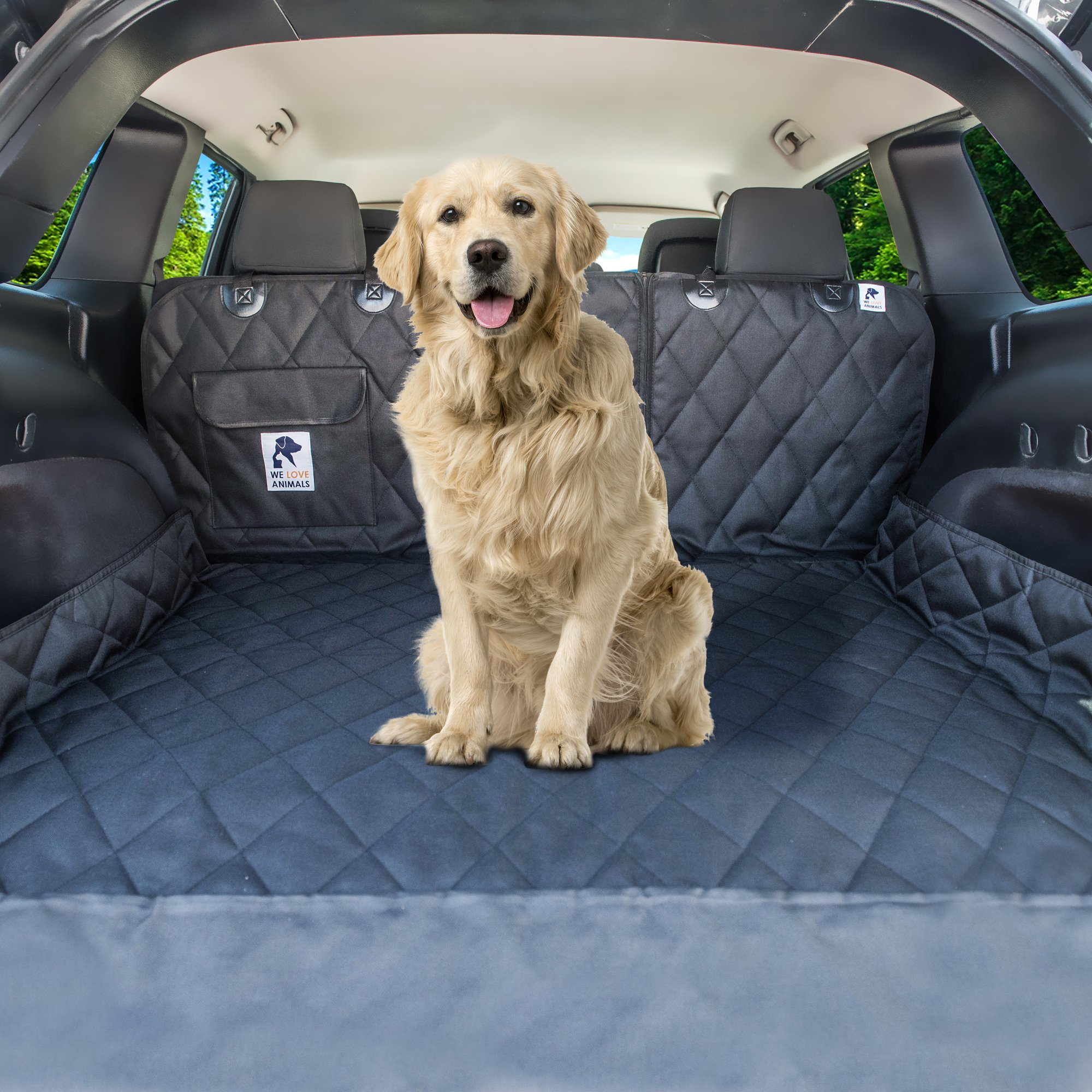 Dog Cargo Liner for SUV, Van, Truck & Jeep - Waterproof, Machine Washable, Nonslip Pet Seat Cover with Bumper Flap will keep your vehicle as clean as ever - XL, Universal Fit - BONUS Carry Bag by WE LOVE ANIMALS (Image #7)