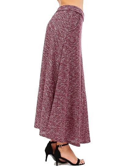 FISOUL De las Mujeres Vintage A-Line Falda Acampanada Cintura Alta ...