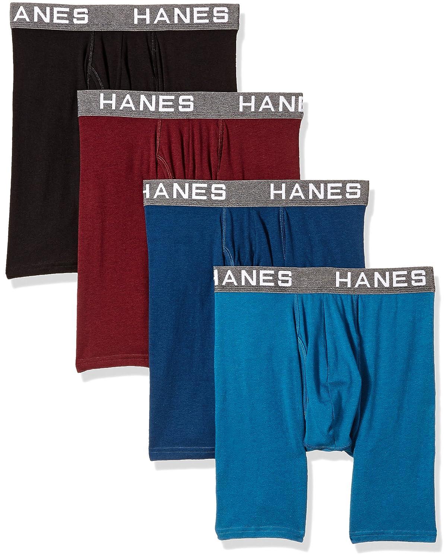 7ec4c3bd3c71f8 Hanes Ultimate Men's Comfort Flex Fit Ultra Soft Cotton Modal Blend Boxer  Brief 4-Pack at Amazon Men's Clothing store: