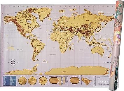 Cartina Geografica Scratch Map.Mappa Del Mondo Da Grattare Scratch Map Xxl 83 5x58 4 Cm Deluxe Edition Cartina Geografica Fisica Politica Con Nazioni Colorate Grattabili Singolarmente Amazon It Cancelleria E Prodotti Per Ufficio