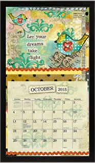 lang perfect timing lang contemporary black calendar frame 15 x 2525 inches 1016013
