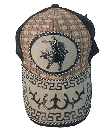 Gorra Charra Western Cowboy ID 119 GOX2 Negro/Beige at Amazon Mens Clothing store: