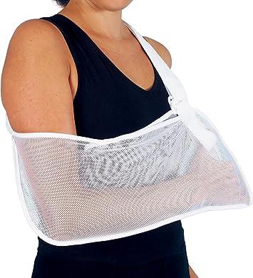 Armschlinge, Nylon, bequem, atmungsaktiv, fixiert den Arm in die gewünschte Ruheposition, bietet Unterstützung und ermöglicht eine Umpositionierung