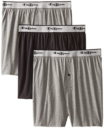 1d2c29926baf Champion Men's 3-Pack Knit Boxer at Amazon Men's Clothing store: