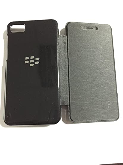 new products dda88 2820e Chevron Imported Leather Flip Back Replace Cover Case for BlackBerry Z10  Black Flipcover (Black)