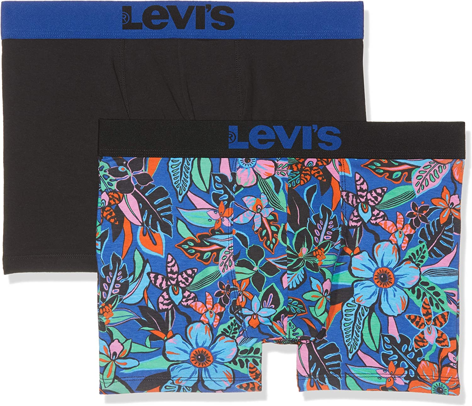 Levi's Levis 200sf Wiggly Flower Boxer Brief 2p (Pack de 2) para Hombre