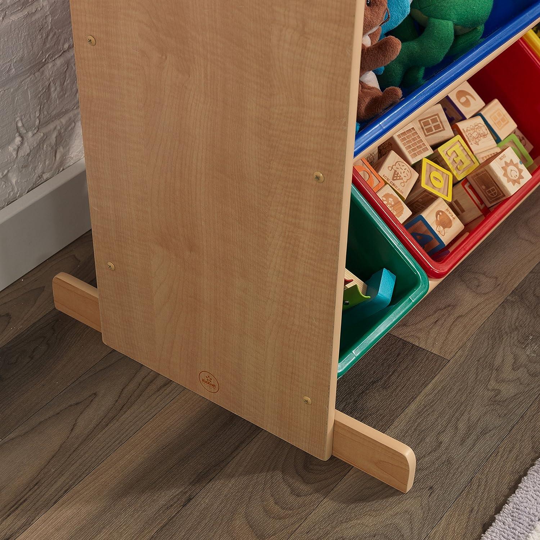 Mobili per Camera da Letto e Sala Giochi per Bambini KidKraft 16774 Portagiochi Sort It And Store It con 12 Contenitori Colori Primari e Bianco