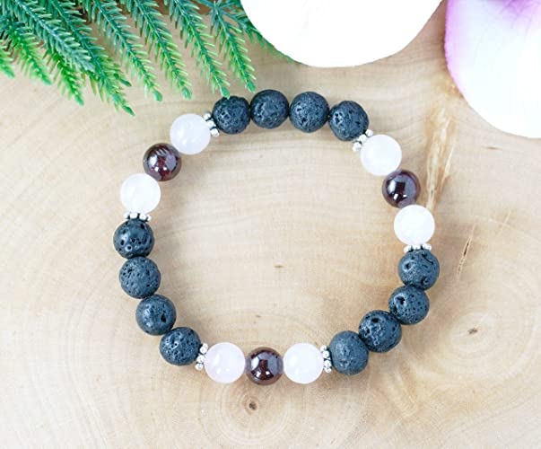 Natural & Alternative Remedies Aromatherapy Jewellery With Gems. Health & Beauty Essential Oil Lava Stone Diffusing Bracelet
