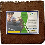 City Greens Washed and Buffered Cocopeat Block Low-EC-Fiber-Moisture, pH Adjusted Expands up to 70 L (5 kg)