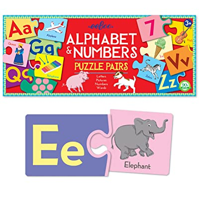 eeBoo Alphabet and Number Puzzle Pairs Matching Game for Toddlers: Toys & Games