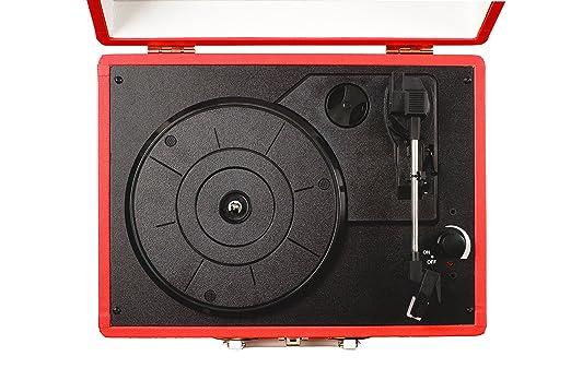 Tocadiscos de vinilo estilo maletín Grausch RPS101 de tres ...