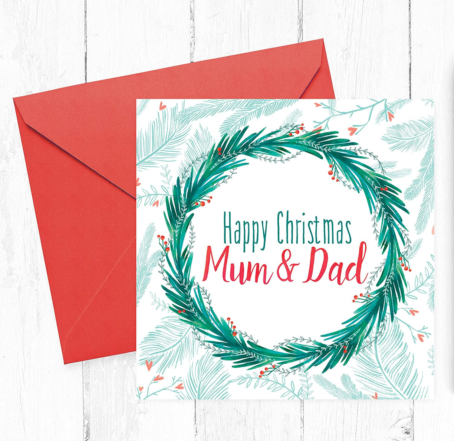 Mum Dad Christmas Card Greetings Cards For Parents Step