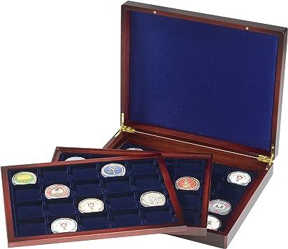 Leuchtturm 308474 Estuche para Monedas VOLTERRA Trio de Luxe, Cada una para 20 Monedas cuadradas de 48 mm Ø: Amazon.es: Juguetes y juegos