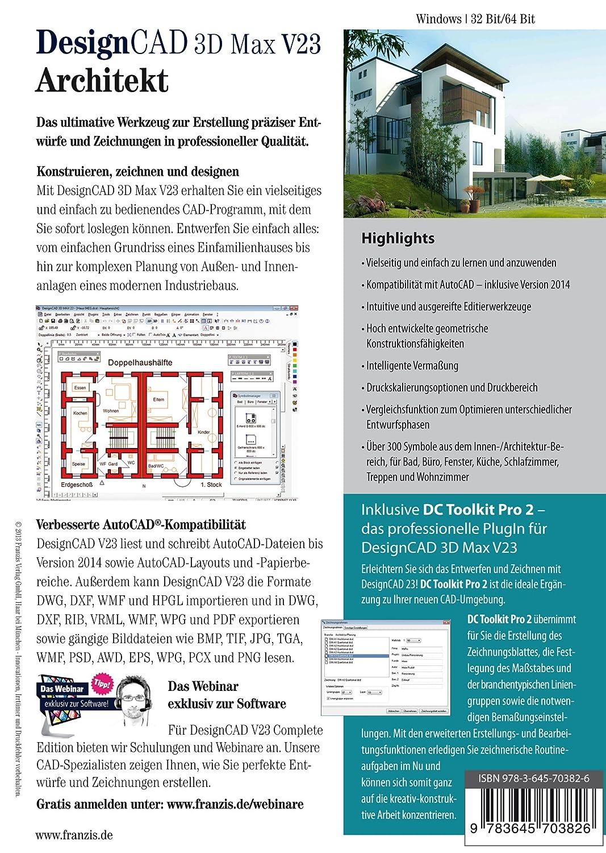 DesignCAD 3D Max V23 Architekt [Download]: Amazon.de: Software