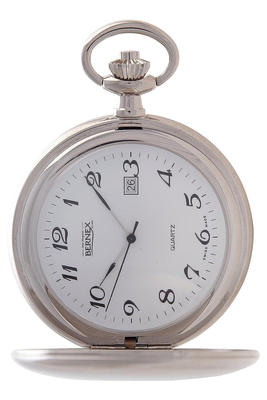 gb21233 – rhodiniert – Full Hunter – Quarz-Uhrwerk – Arabisch Zifferblatt – weißes Zifferblatt