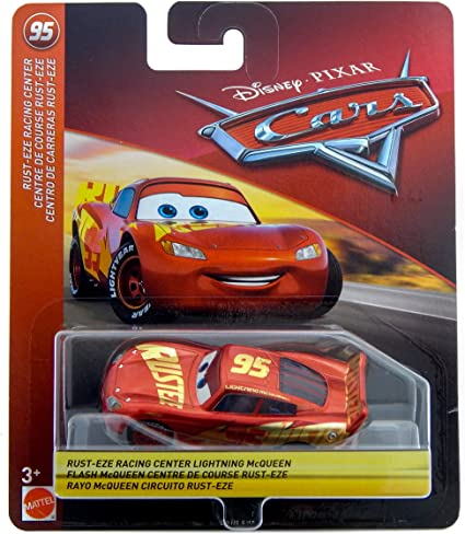 Amazon Com Disney Pixar Cars Lightning Mcqueen Rust Eze Racing