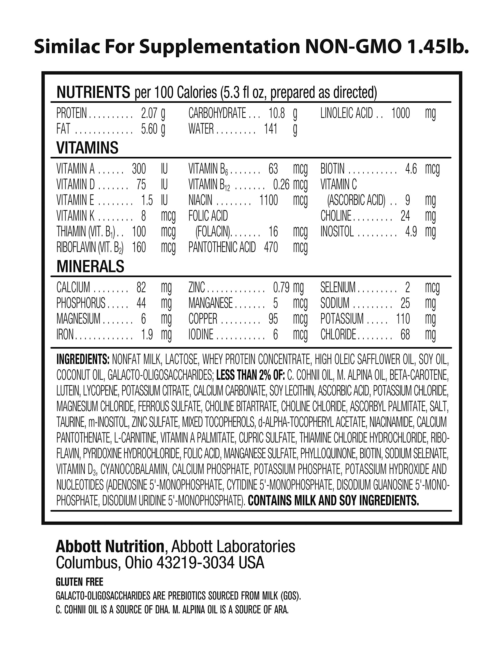 Similac For Supplementation Non-GMO Infant Formula with Iron, Powder, 23.2 Ounces (Pack of 4) by Similac (Image #10)