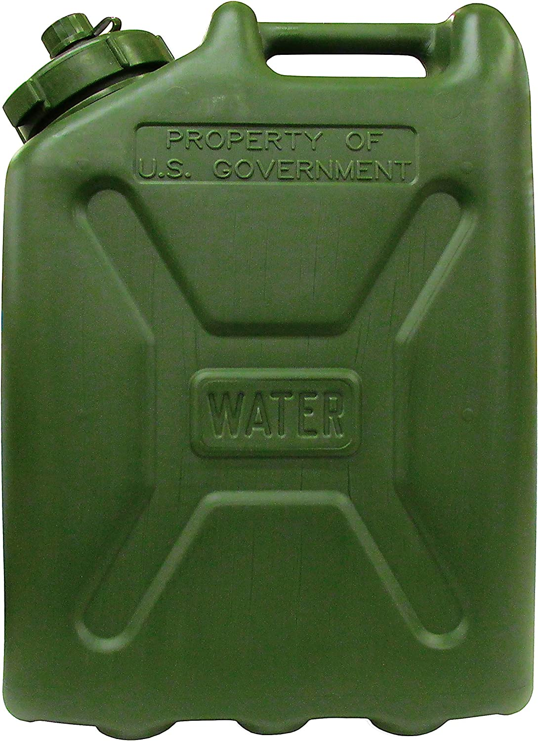 Ability One 5 Gallon Plastic Water Jugs - Forest Green