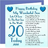 Twizler 20th birthday card roadsign 20 year old age 20 son 20th happy birthday card lots of love to the best son in the world bookmarktalkfo Choice Image